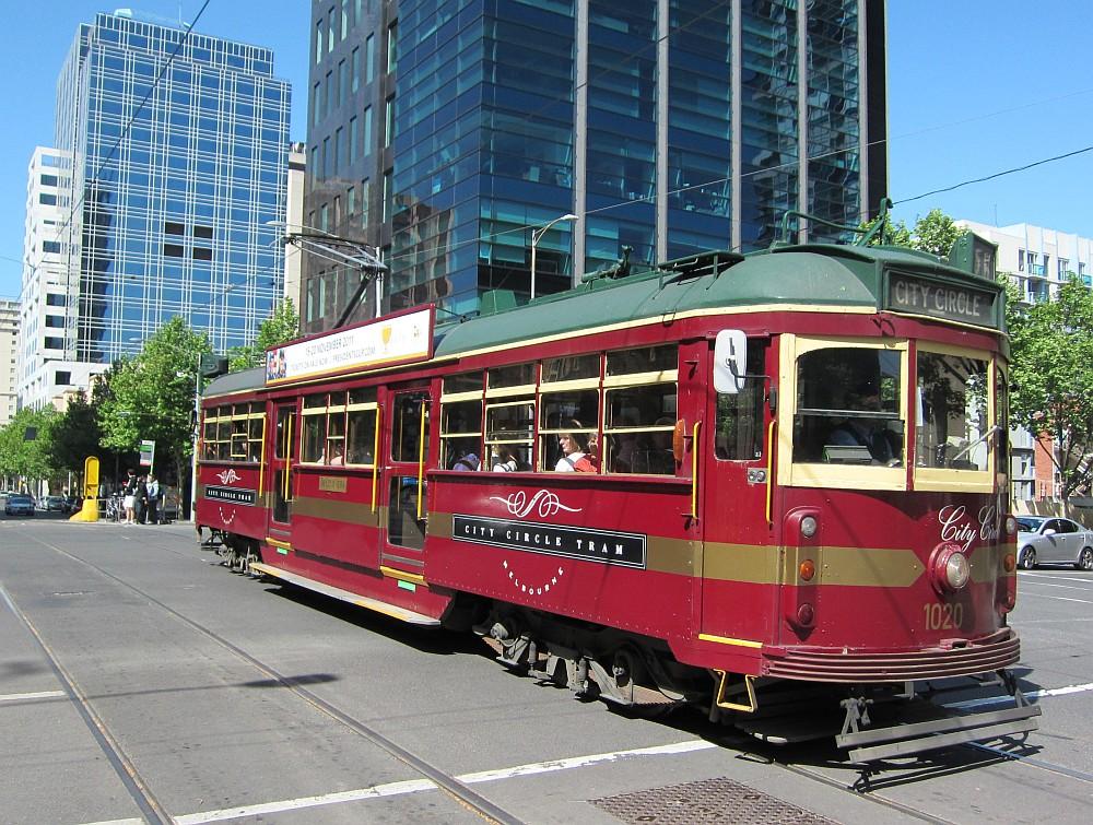 A melbourne-i City Circle tram a legjobb városnéző eszköz - a bicikli után