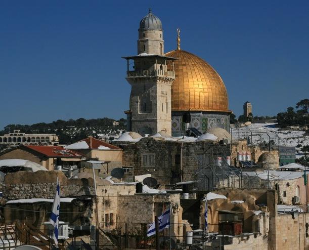 Nagy-mecset a Templom-hegyen, Jeruzsálem óvárosának muzulmán negyedében