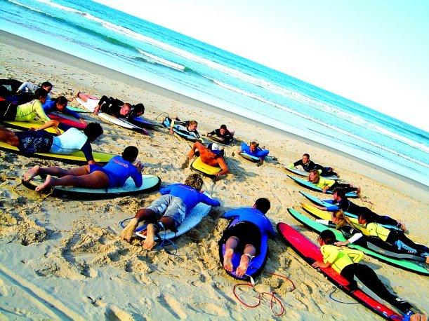 Szárazedzés szörf előtt