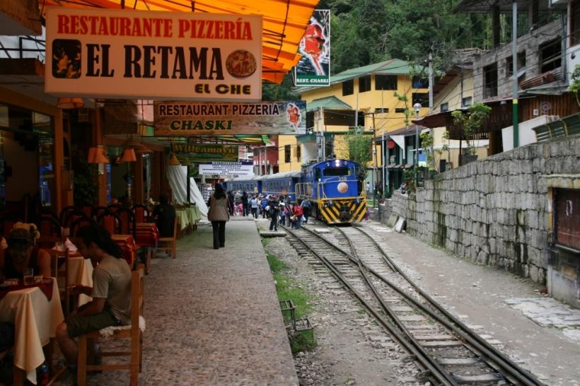 Aguas Calientes, ahol örömmel szállsz vonatra