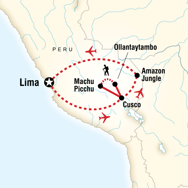 Az Amazonastól az Andokig térkép