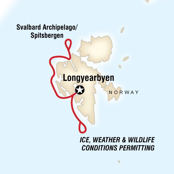 A jegsemedvék birodalma - útvonal