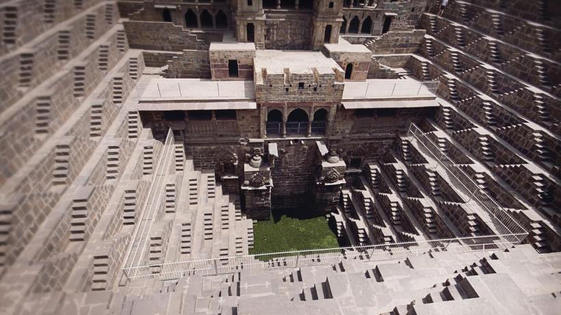 Jaipur Abhaneri Stepwell a lépcsős kutak minden indiai romantikus film kötelező helyszínei